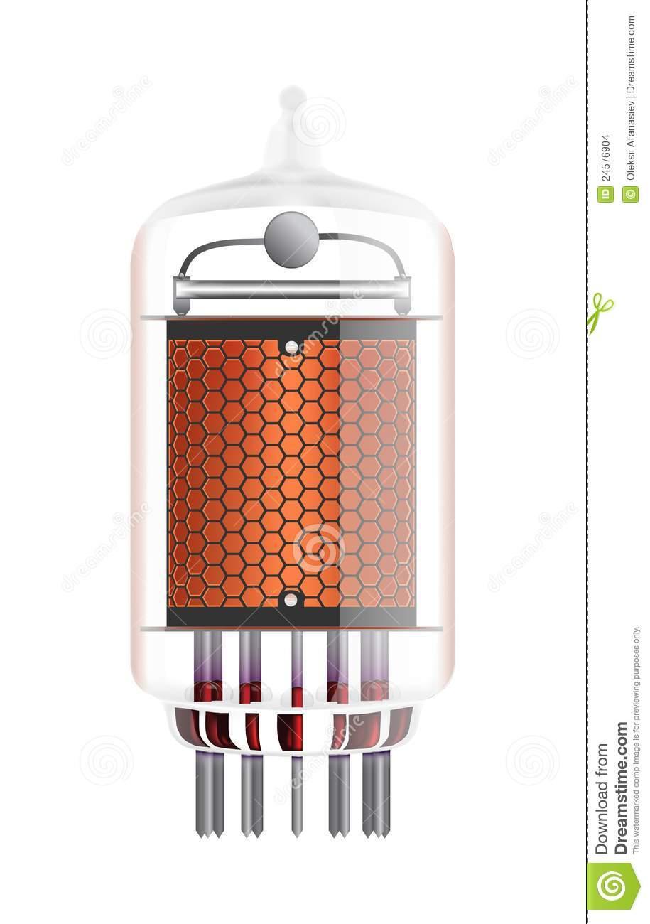 Nixie Tube Indicator. Stock Images.
