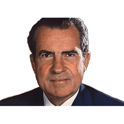 Richard Nixon Close Up transparent PNG.