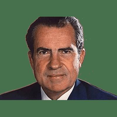 Richard Nixon Close Up transparent PNG.