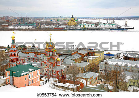 Stock Photo of March snow view Nizhny Novgorod Russia k9553754.