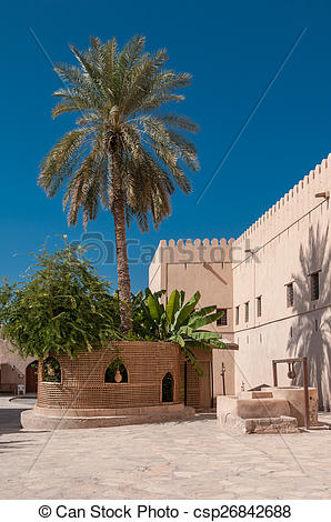 Pictures of Courtyard of Nizwa Fort, Oman csp26842688.