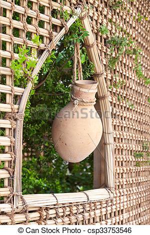 Stock Photo of Terracotta pot in Nizwa, Oman.