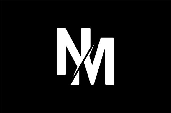 Monogram NM Logo Design.
