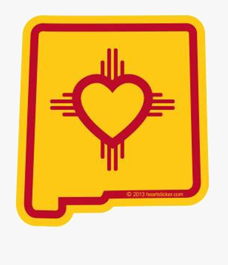 New Mexico Flag Heart , Transparent Cartoon, Free Cliparts.