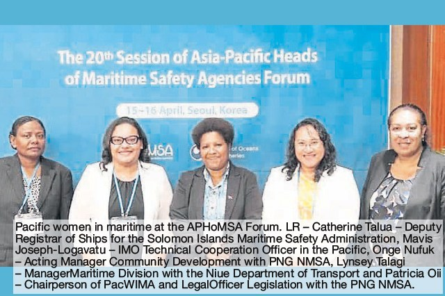 Forum boosts support for women in maritime.