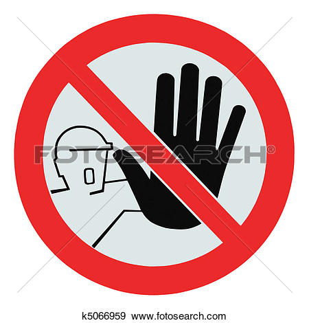Stock Photograph of No access for unauthorized persons warning.