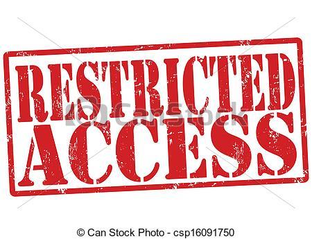 No access clip art.