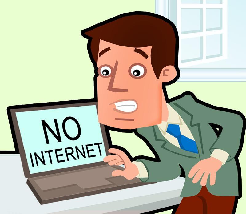 No internet clipart.