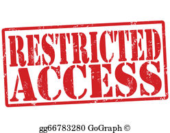 Restricted Access Sign Clip Art.
