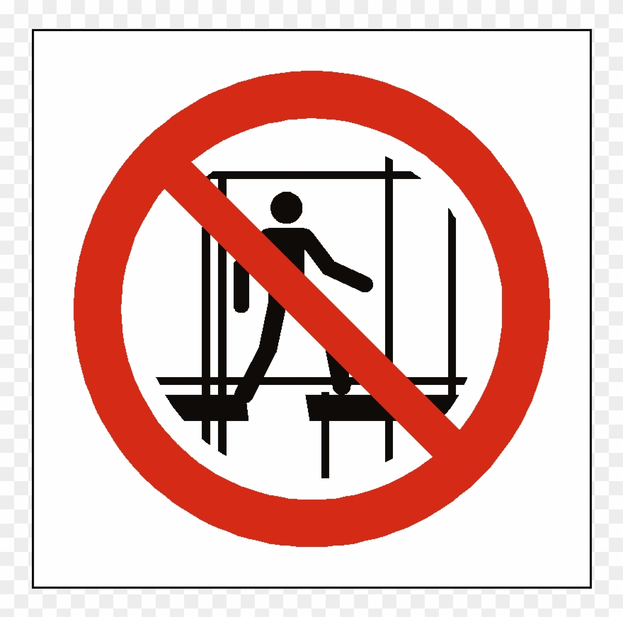 No Access To Scaffold Clipart (#2039203).