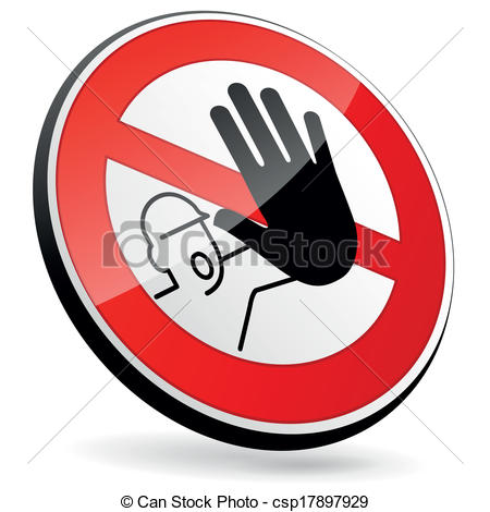 Vector Illustration of No entry sign.
