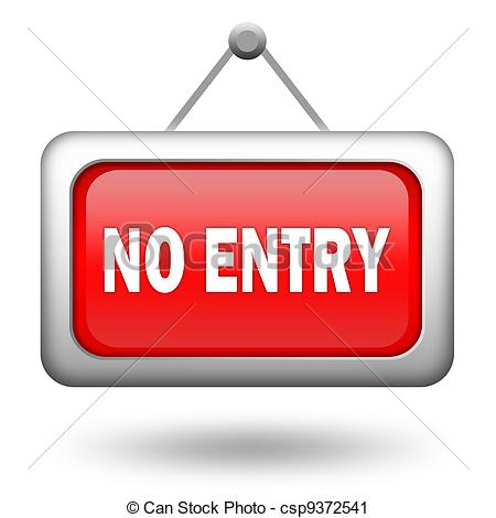 Clipart of No entry sign on white background csp9372541.