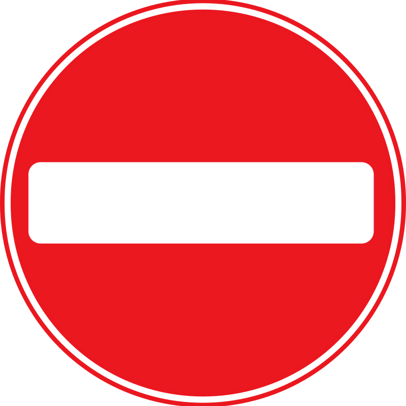 No entry signs clipart.