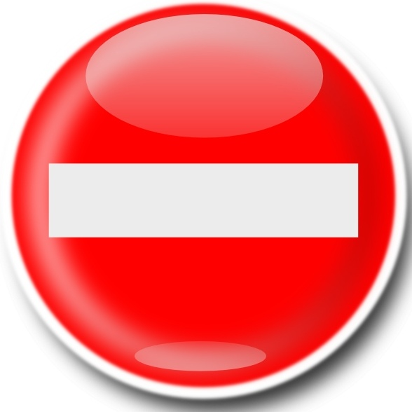 No Entry Sign clip art Free vector in Open office drawing svg.
