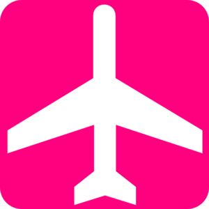 Pink Airplane Cliparts.