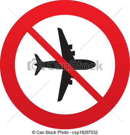 Clipart Vector of No plane.