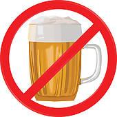 No Alcohol Clip Art.