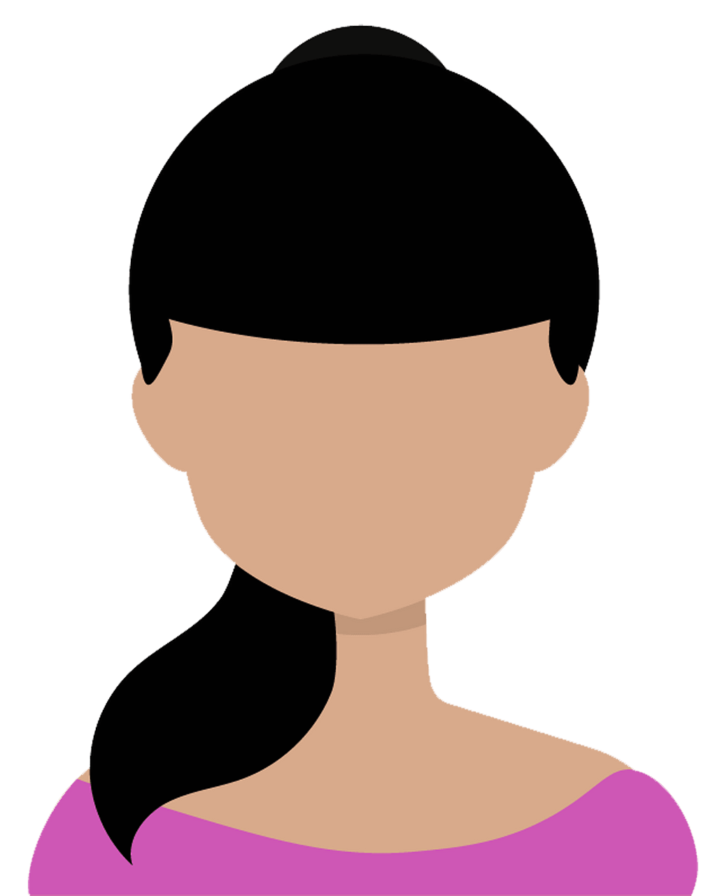 Girl avatar clipart. Free download..