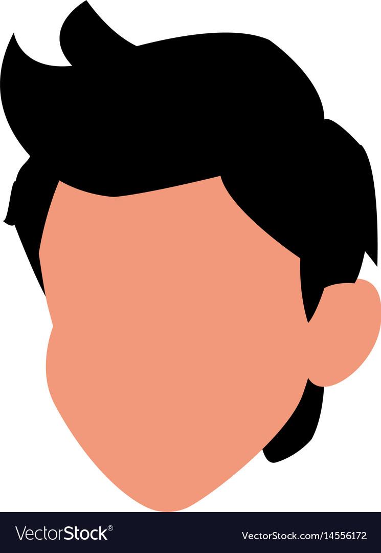 Head boy young avatar no face.