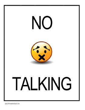 Clipart No Talk.