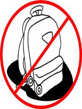 PARENT ALERT! NO BOOK BAGS.