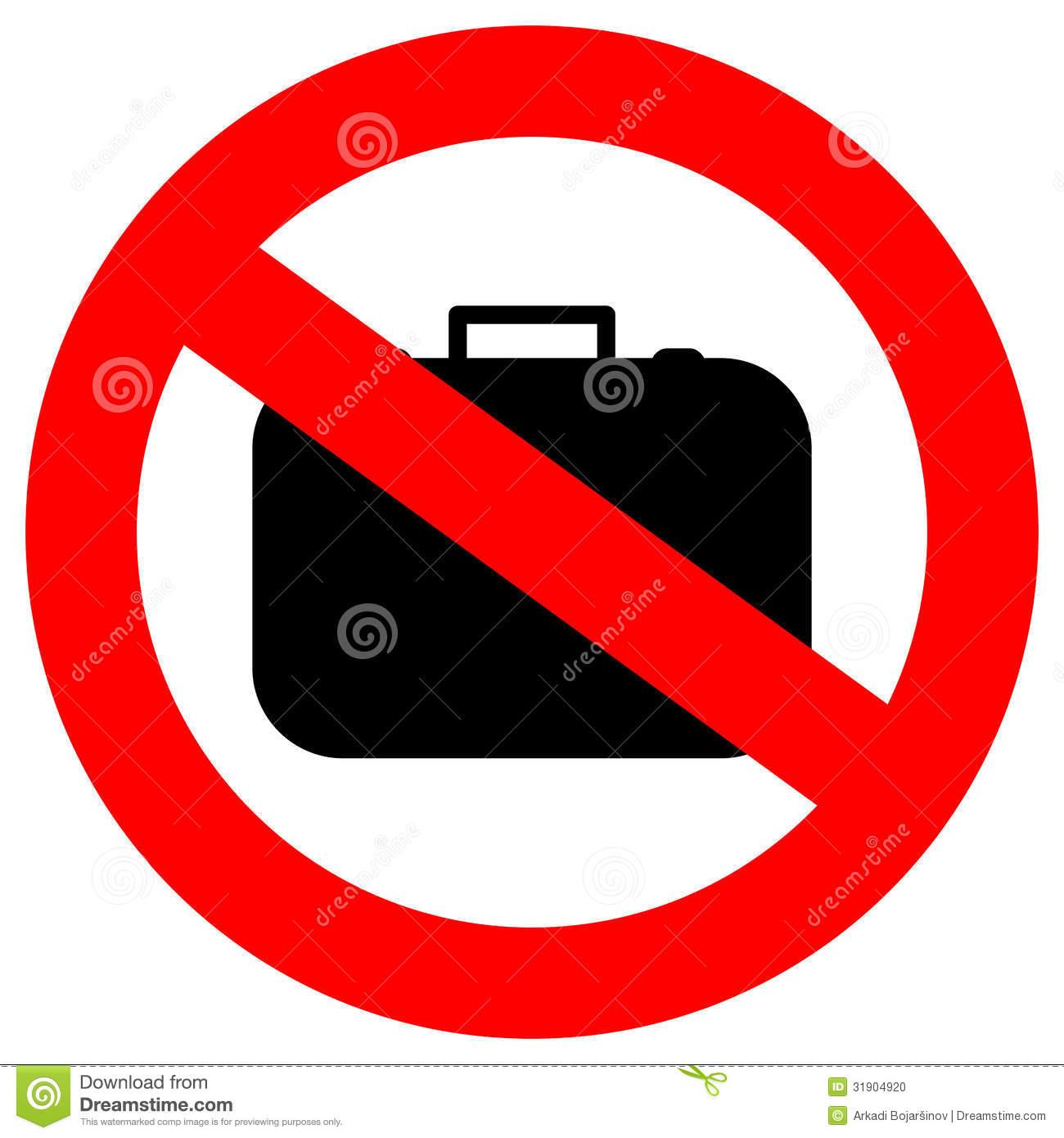No Hand Baggage Stock Photo.