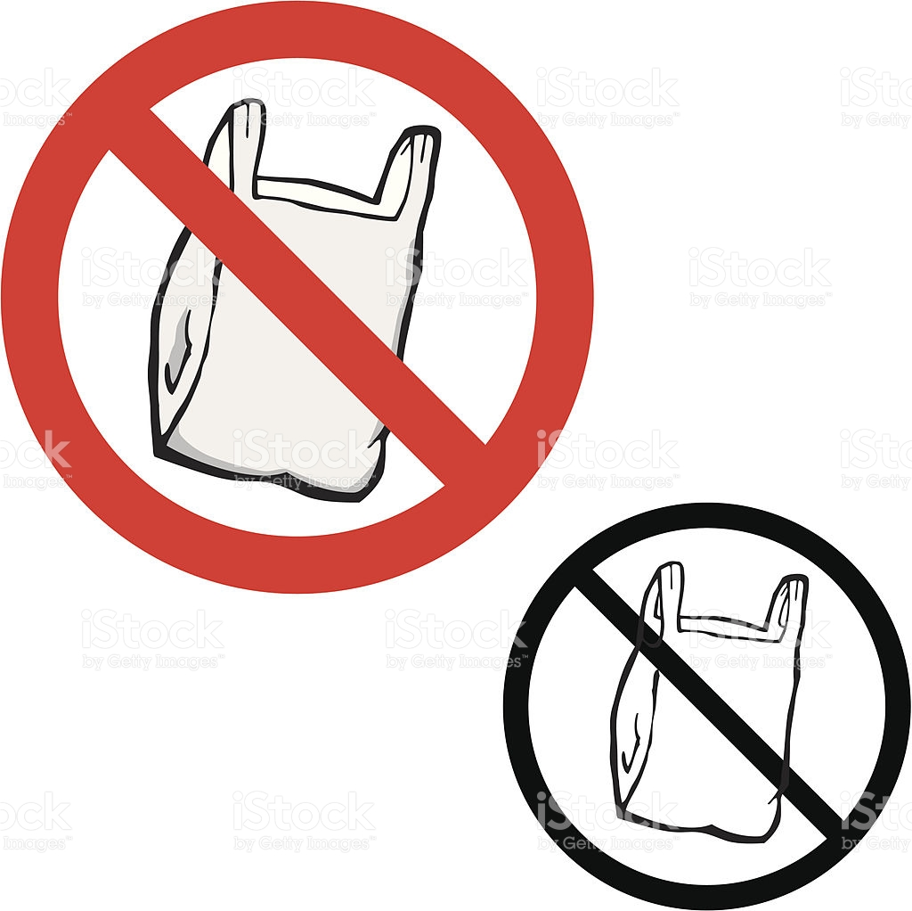 No Plastic Bags stock vector art 165503341.