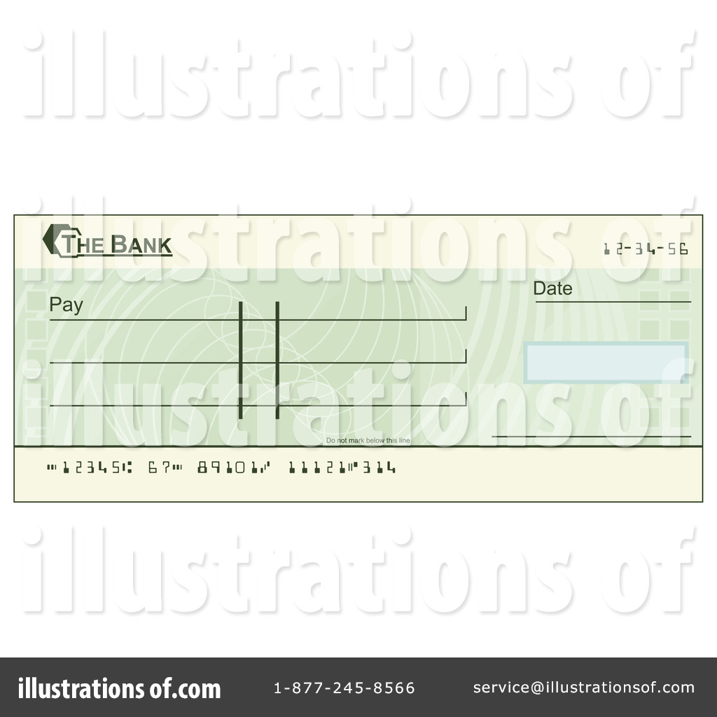 Bank Check Water Scene Clipart Free.