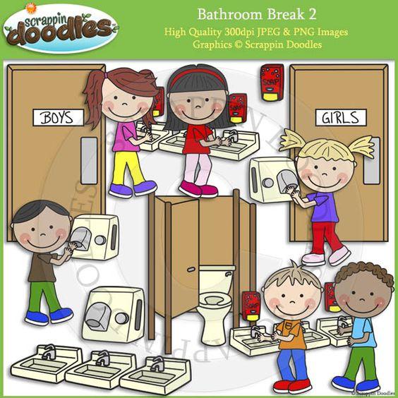 School bathroom clipart