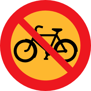 No Bicycles Roadsign Clip Art at Clker.com.
