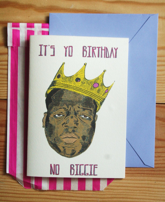 Biggie Smalls hip hop Birthday/Fathers card.