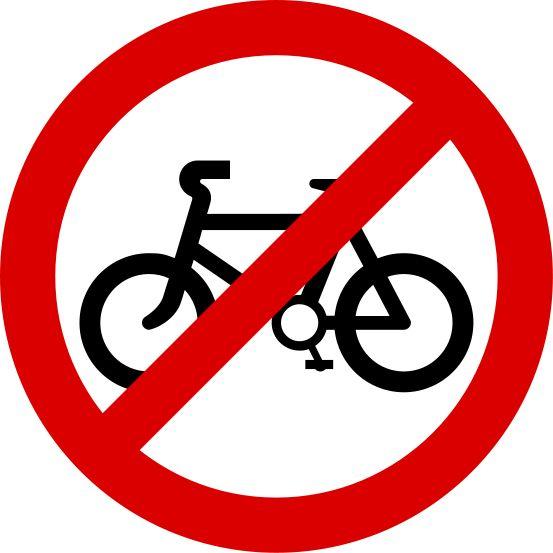 No Bikes Sign.