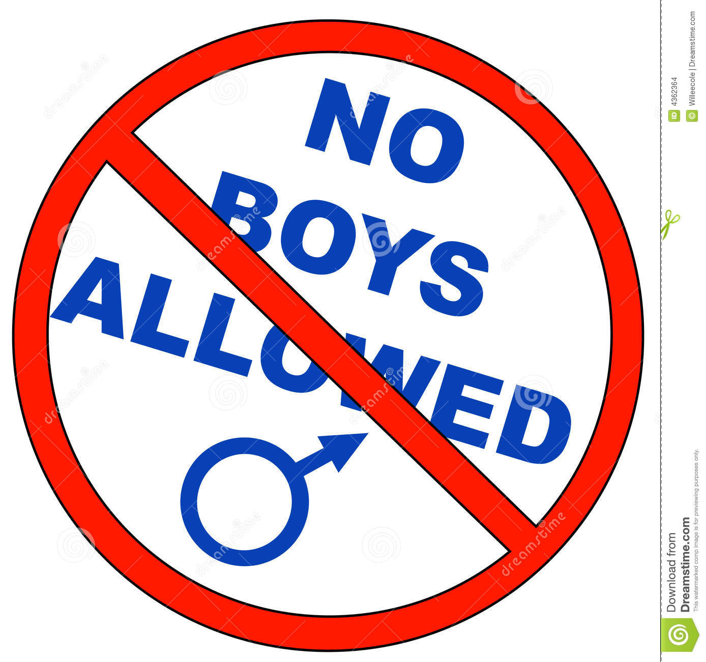 No boys allowed stock vector. Illustration of clip, alarm.