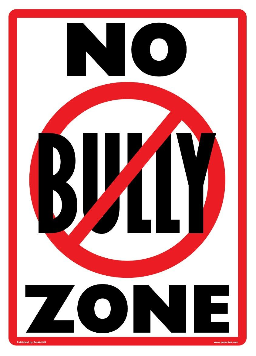 New No Bully Zone Playground Rules Poster.