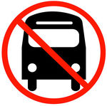 Stock Illustration of bus with not allowed symbol.