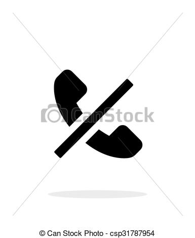 Clipart Vector of No call simple icon on white background.