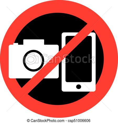No Camera Clipart.