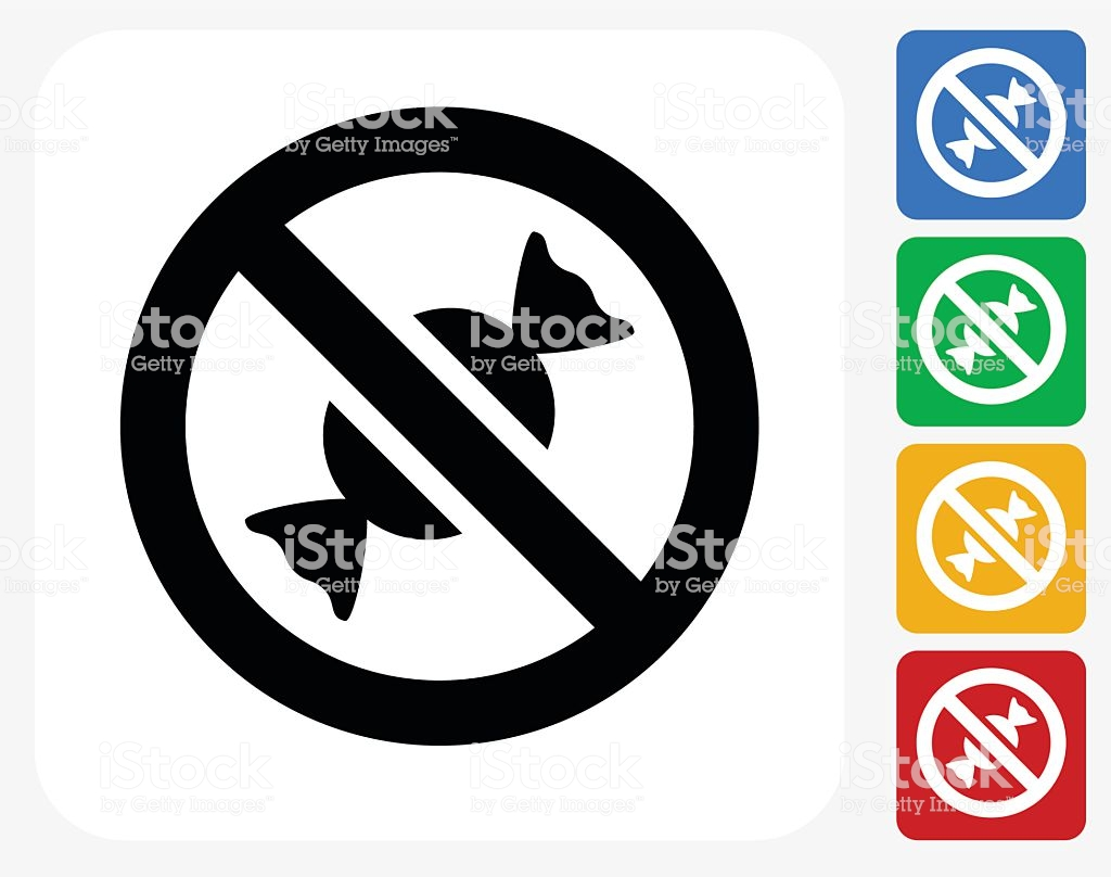 No Candy Allowed Icon Flat Graphic Design #234430.