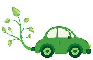 Green cars.