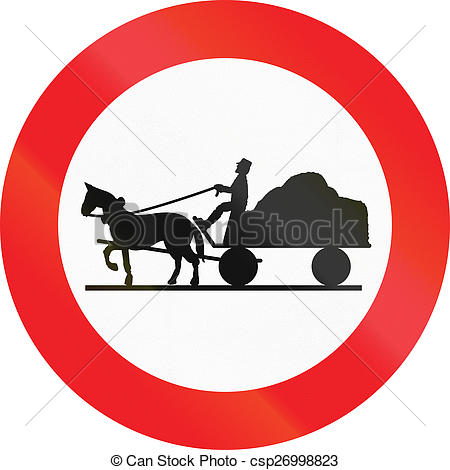 Clip Art of No Carriages in Austria.