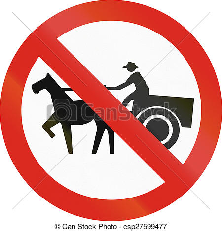Stock Illustrations of No Carriages in Colombia.