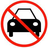 Stock Illustration of no cars allowed k5540776.