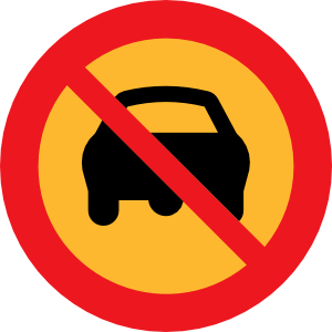 No Cars Sign clip art Free Vector / 4Vector.
