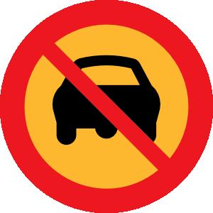 No Cars Sign clip art Free Vector / 4Vector.