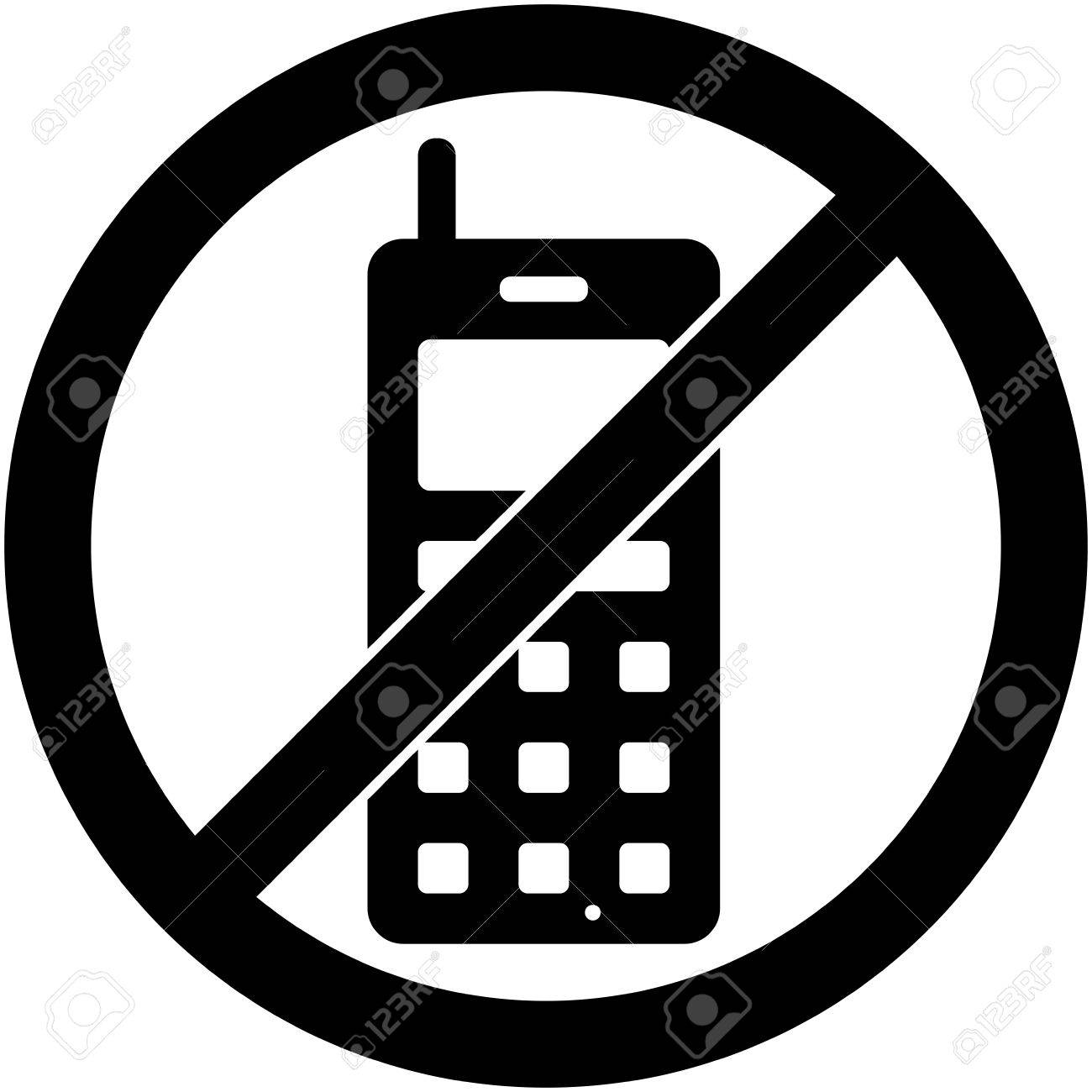 No phone, telephone, cellphone and smartphone prohibited symbol..