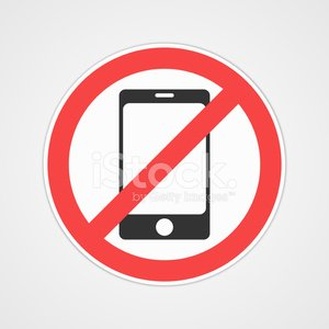 Vector no cell phone sign Clipart Image.