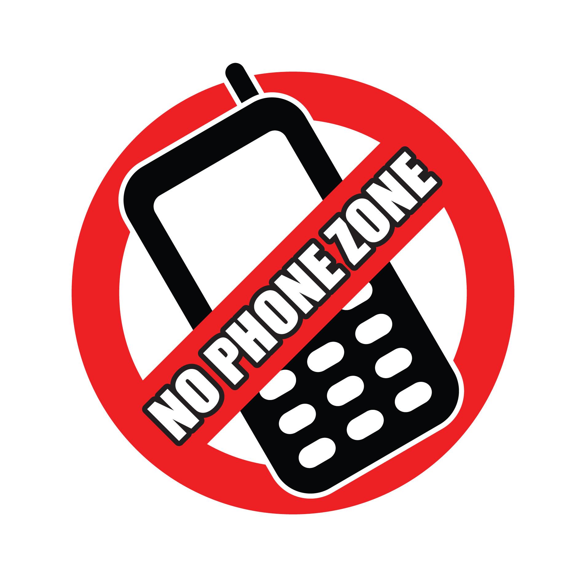 No Phone Zone Clipart.
