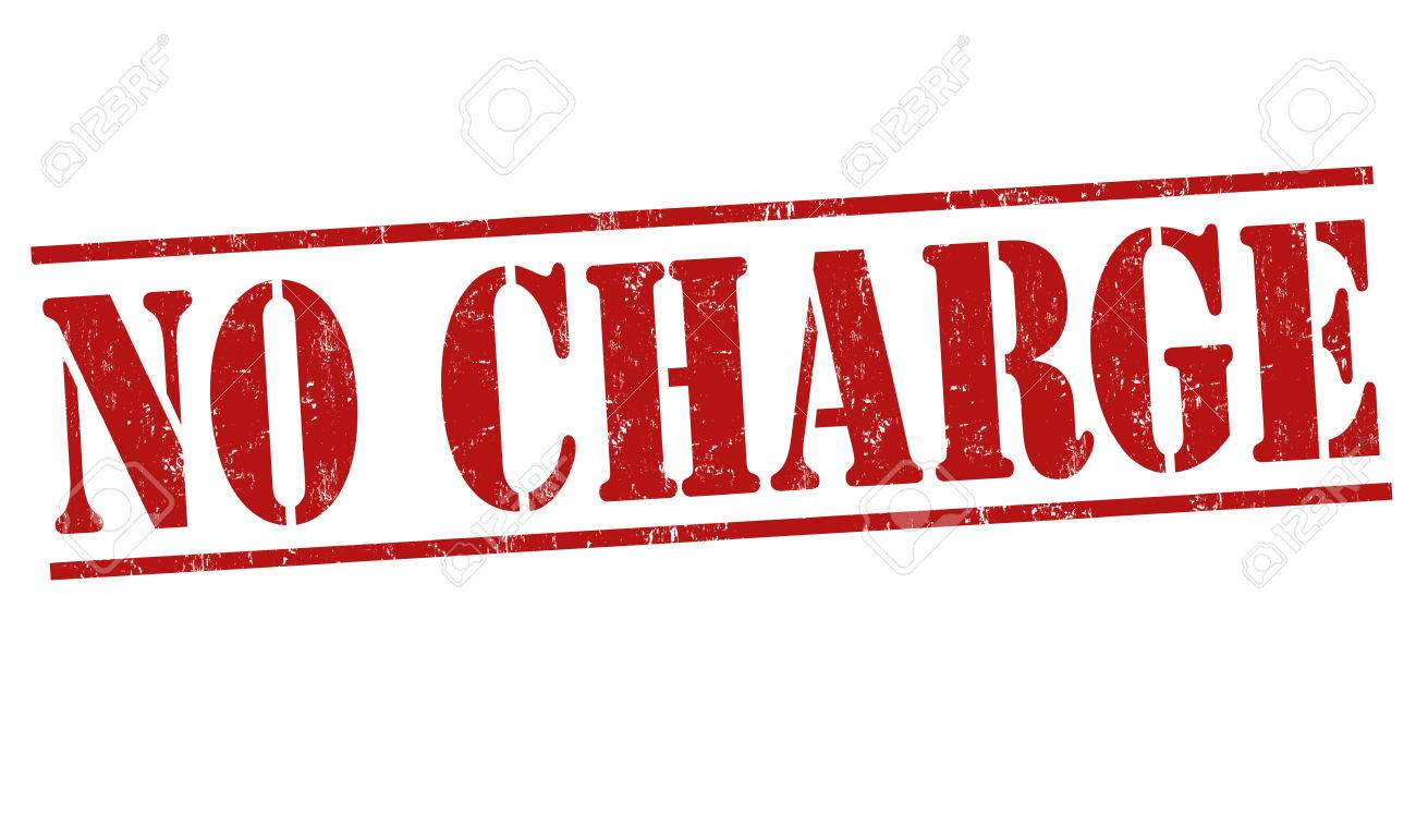 No charge grunge rubber stamp on white background, vector illustration.