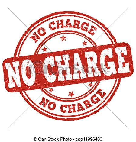 No charge sign or stamp.