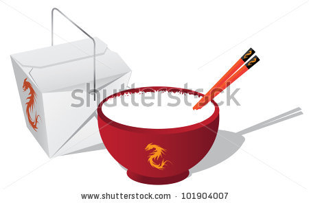 Chinese Food And Chopsticks Stock Photos, Royalty.